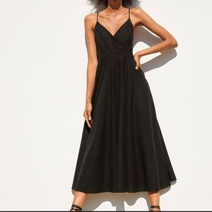 Zara Black Linen Dress
